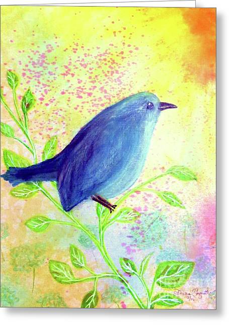 Bluebird On A Sunny Day Greeting Card by Desiree Paquette