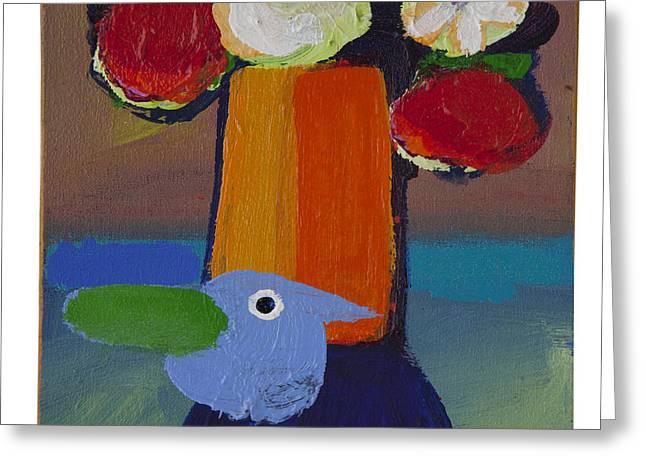 Bluebird Greeting Card by Rogerio Dias