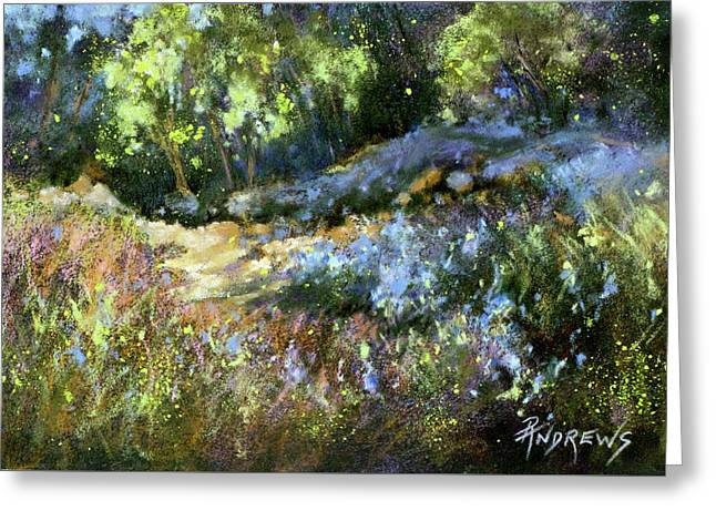 Bluebonnet Dazzle Greeting Card by Rae Andrews