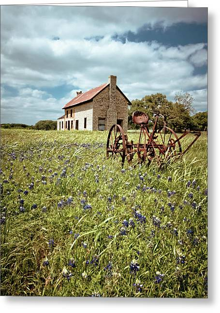 Greeting Card featuring the photograph Bluebonnet Fields by Linda Unger