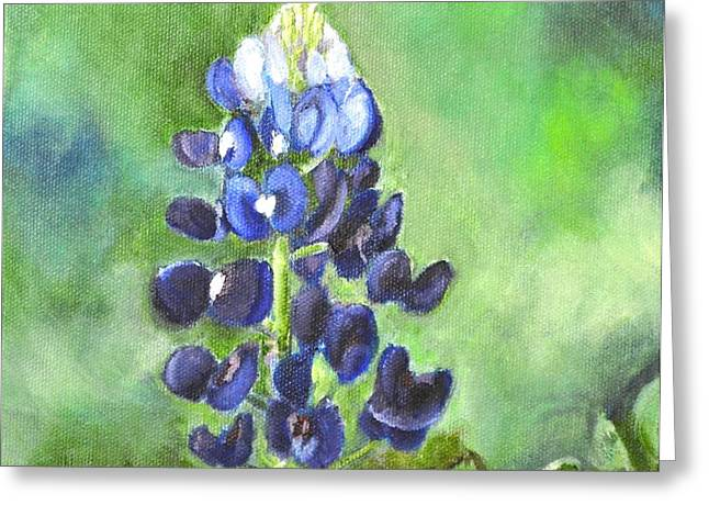 Bluebonnet Greeting Card by Melissa Torres