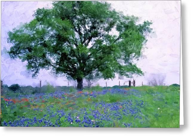 Bluebonnet Tree Greeting Card