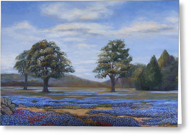 Bluebonnets In Texas Greeting Card