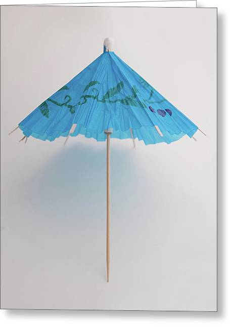 Umbrellas Photographs Greeting Cards - Bluebrella Greeting Card by Dan Holm