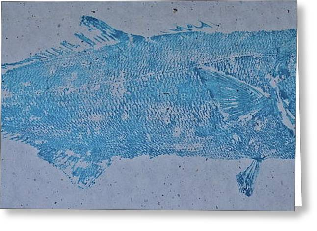 Bluefish - Chopper- Aligator Blue - Greeting Card