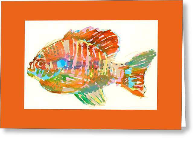 Bluegill Sunfish Greeting Card by Martha Bush