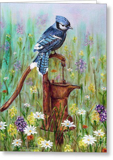 Bluejay Peaceful Perch Greeting Card
