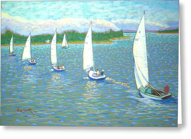 Bluenose Sailpast  Part Two  Greeting Card