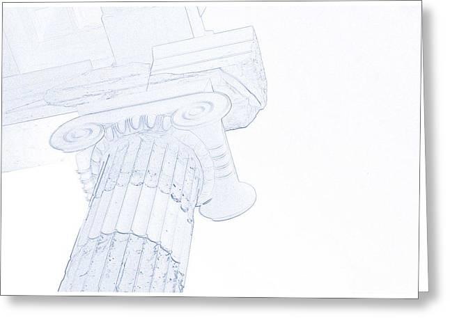 Blueprint Of Greek Roman Pillars Greeting Card