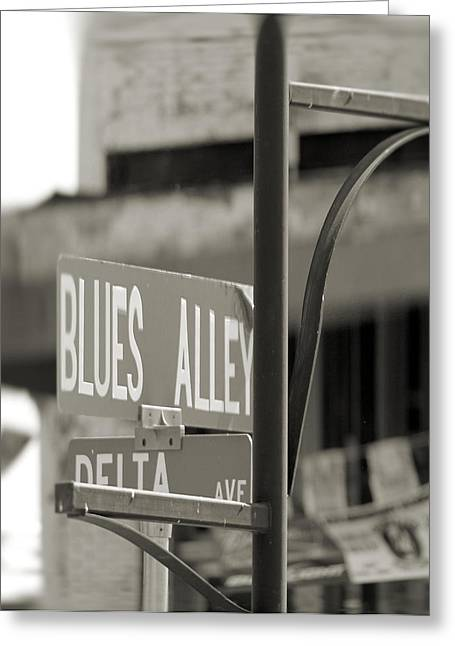 Blues Alley Street Sign Greeting Card