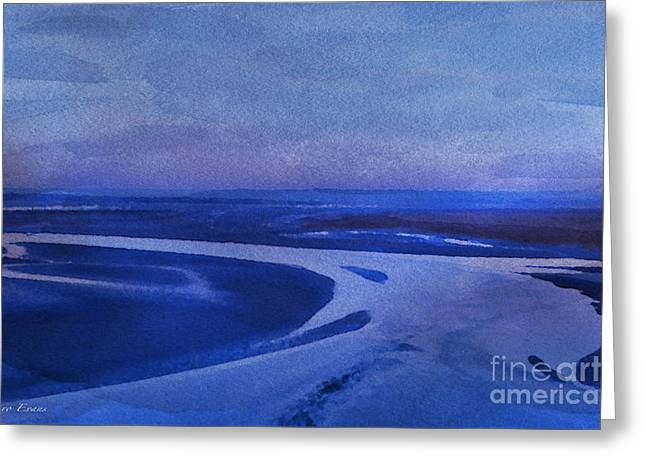 Blues At Mount St Michael Greeting Card by Karo Evans