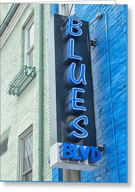 Blues Blvd Greeting Card by Blaine Owens Photography