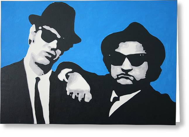 Blues Brothers 2013 Greeting Card by Luis Ludzska
