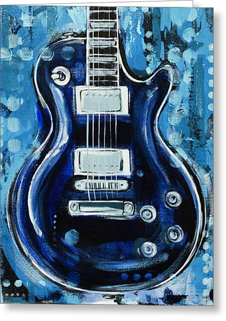 Greeting Card featuring the painting Blues Guitar by John Gibbs