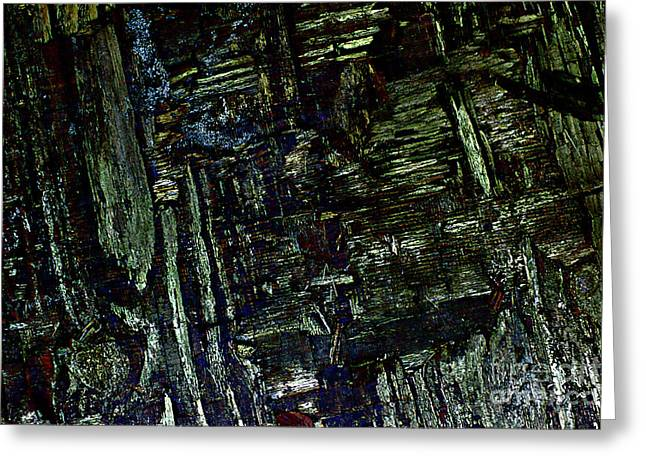 Blues Improvisation In Abstract. Greeting Card