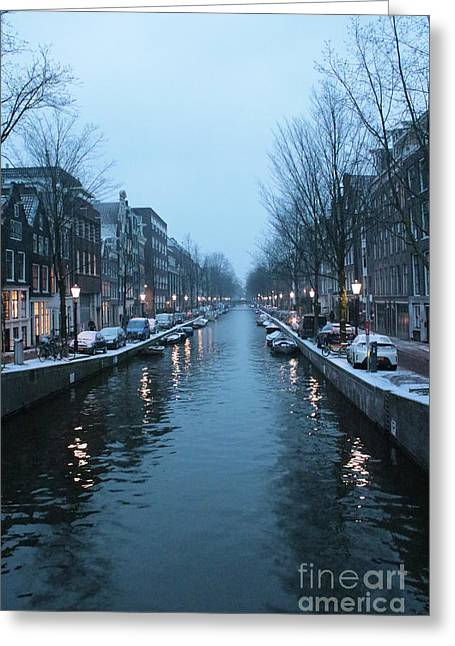 Blues In Amsterdam Greeting Card by Carol Groenen