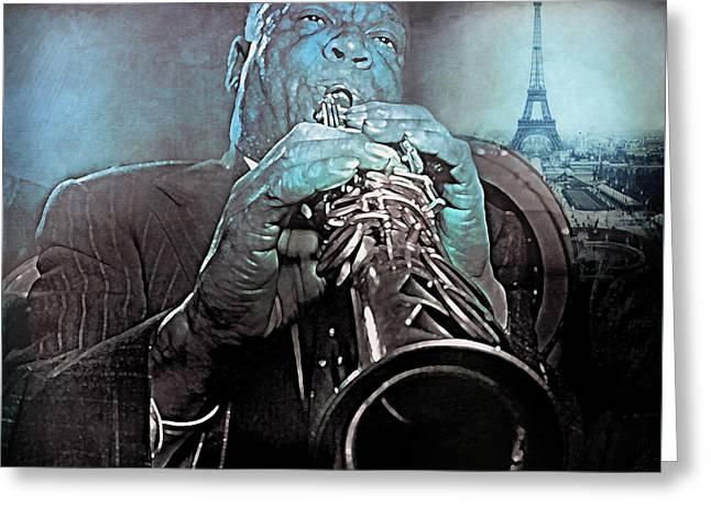 Blues In Paris Sidney Bechet Greeting Card
