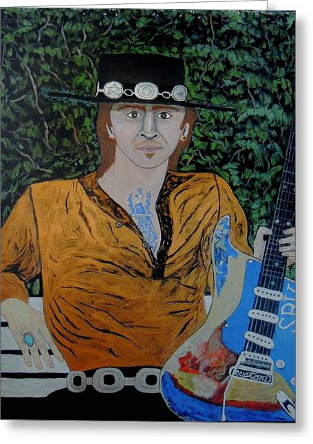 Blues In The Park With Srv. Greeting Card