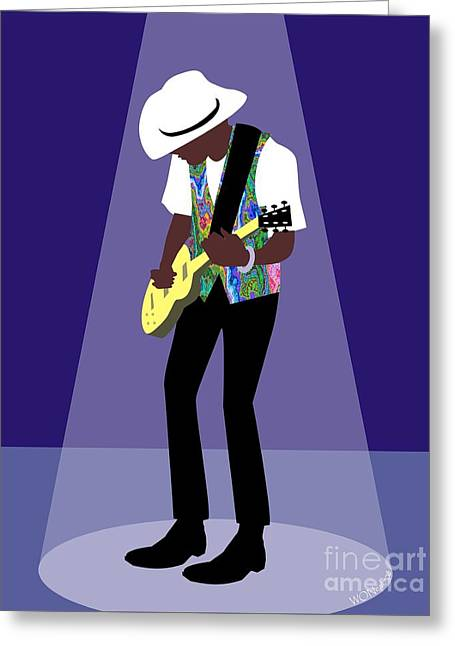Blues Man Greeting Card