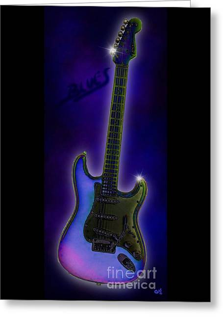 Greeting Card featuring the digital art Blues  by Nick Gustafson
