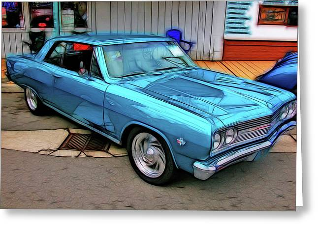 Blues Power Greeting Card by Tim Coleman