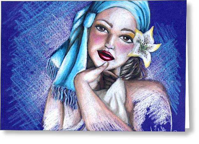 Blues Greeting Card by Scarlett Royal
