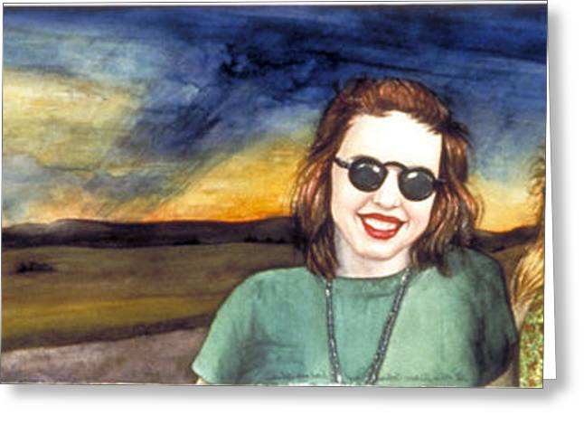 Blues Sisters Greeting Card by Nancy  Ethiel