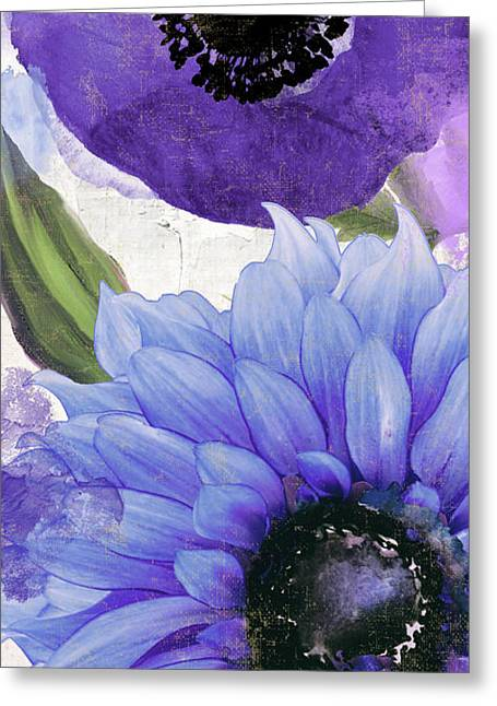 Blue Then Yellow I Greeting Card by Mindy Sommers