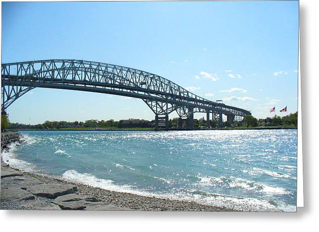 Bluewater Bridges Greeting Card