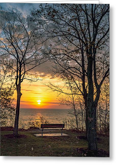 Bluff Bench Greeting Card
