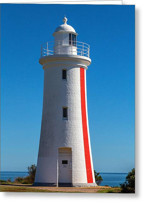 Bluff Lighthouse Greeting Card by Keith Hawley