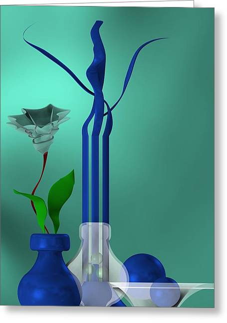 Bluish Still Life Growing Greeting Card