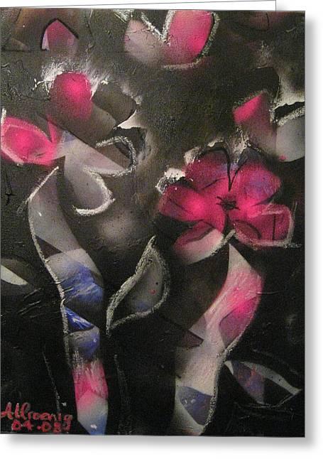 Blumen Aus Berlin Greeting Card by Andrea Noel Kroenig