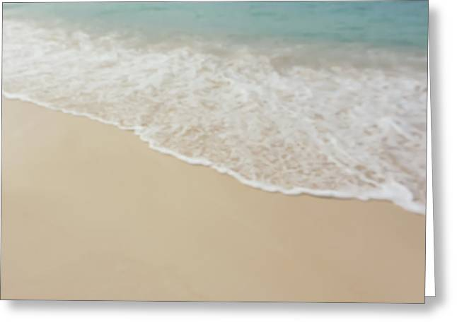 Blurred Beach Background Greeting Card by Brandon Bourdages