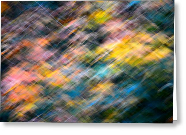 Blurred Leaf Abstract 1 Greeting Card