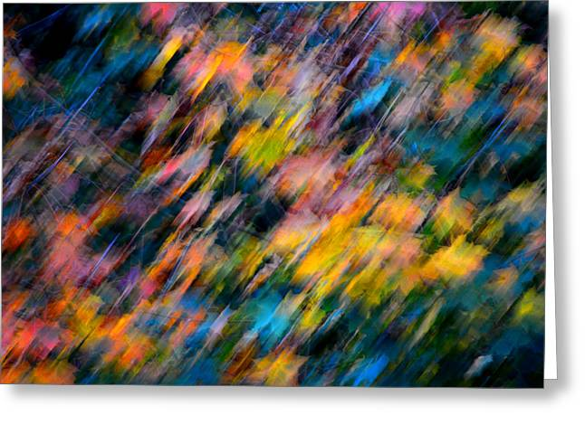 Blurred Leaf Abstract 4 Greeting Card
