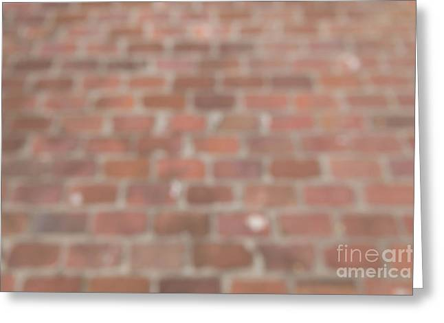 Greeting Card featuring the photograph Blurred Orange Brick Wall,floor Exterior,interior Pattern Design by Jingjits Photography