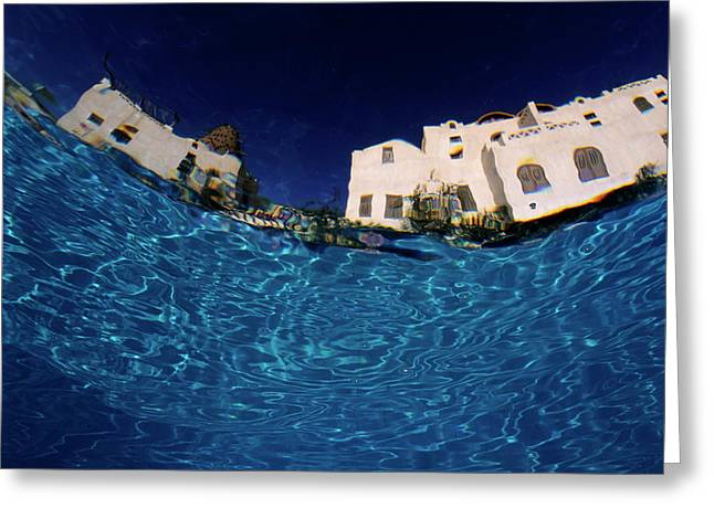 Blurred View Of A Hotel From Underwater Greeting Card by Sami Sarkis