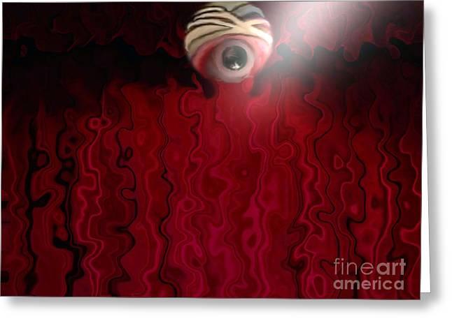 Blurred Vision Greeting Card by Belinda Threeths