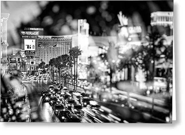 Blurry Vegas Nights IIi Greeting Card by Ricky Barnard