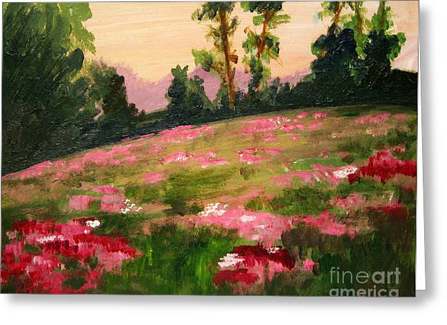 Blush On The Meadow Greeting Card by Julie Lueders