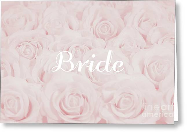 Blush Pink Bride Greeting Card by Lucid Mood