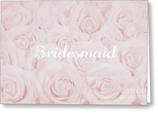 Blush Pink Bridesmaid Greeting Card by Lucid Mood