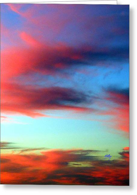 Blushed Sky Greeting Card