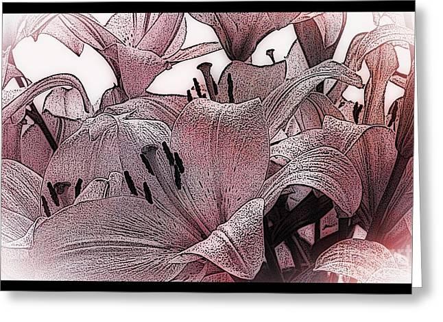 Blushing Lilies Greeting Card