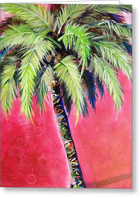 Blushing Pink Palm Greeting Card