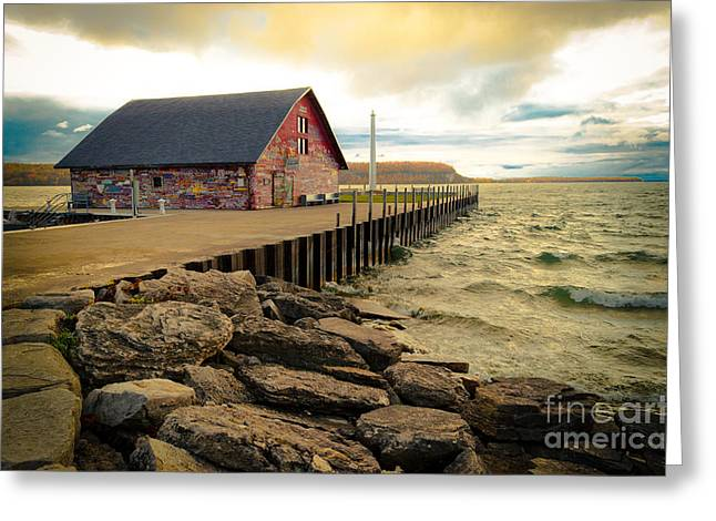 Blustery Day At Anderson Barn Greeting Card