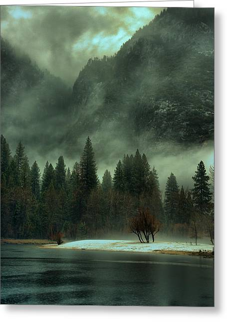 Blustery Yosemite Greeting Card by Josephine Buschman