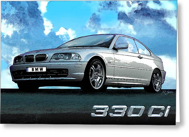 Bmw 330ci Greeting Card