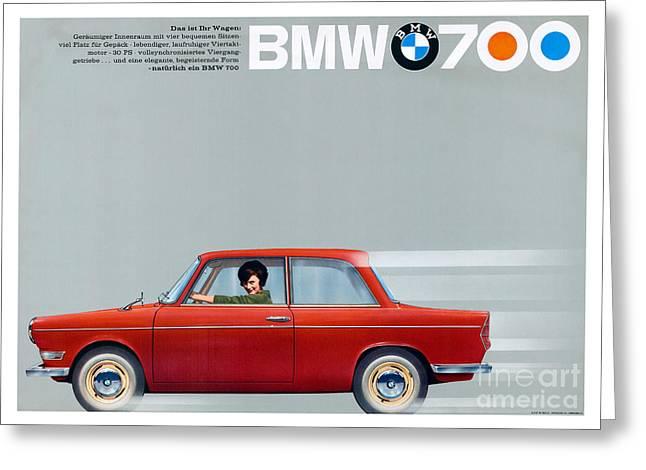 Bmw 700 Advertisement Greeting Card by Jon Neidert